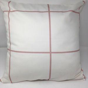 "Laurel & Blush 20"" Windowpane Throw Pillow"
